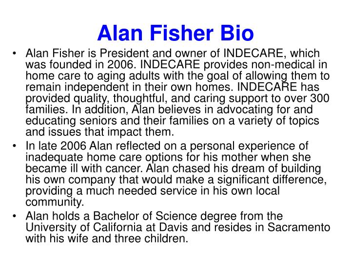 Alan fisher bio