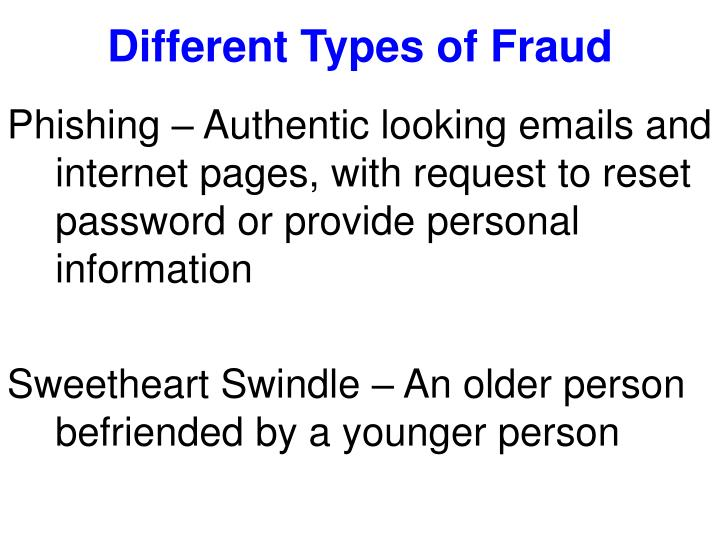 Different Types of Fraud