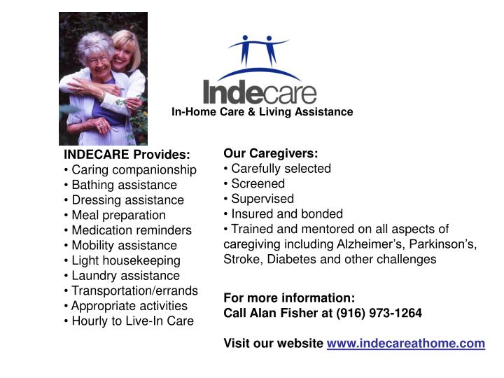 In home care living assistance