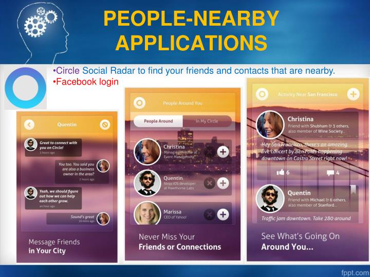 PEOPLE-NEARBY APPLICATIONS