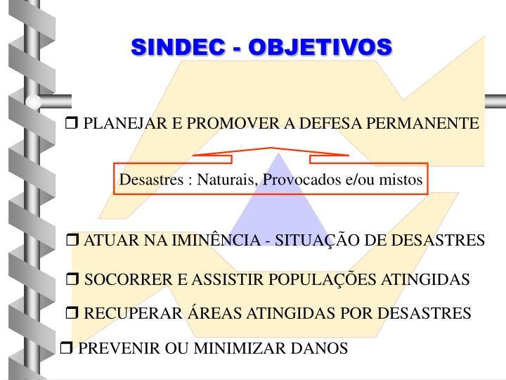 SINDEC - OBJETIVOS