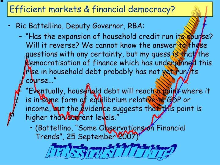 Efficient markets & financial democracy?