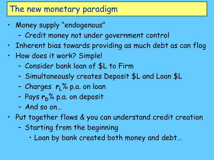 The new monetary paradigm