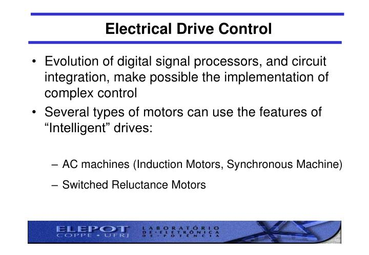 Electrical Drive Control