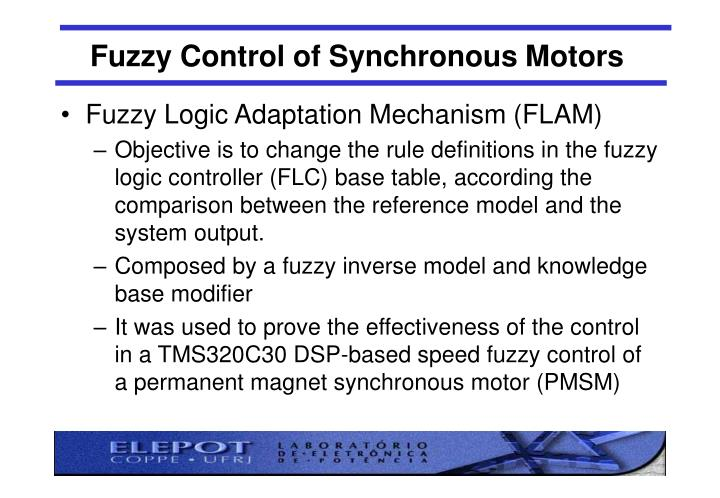 Fuzzy Control of Synchronous Motors