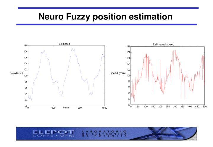 Neuro Fuzzy position estimation