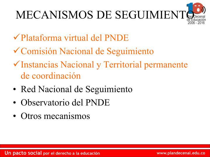 Plataforma virtual del PNDE
