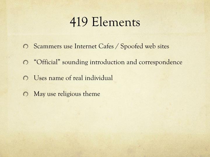 419 Elements