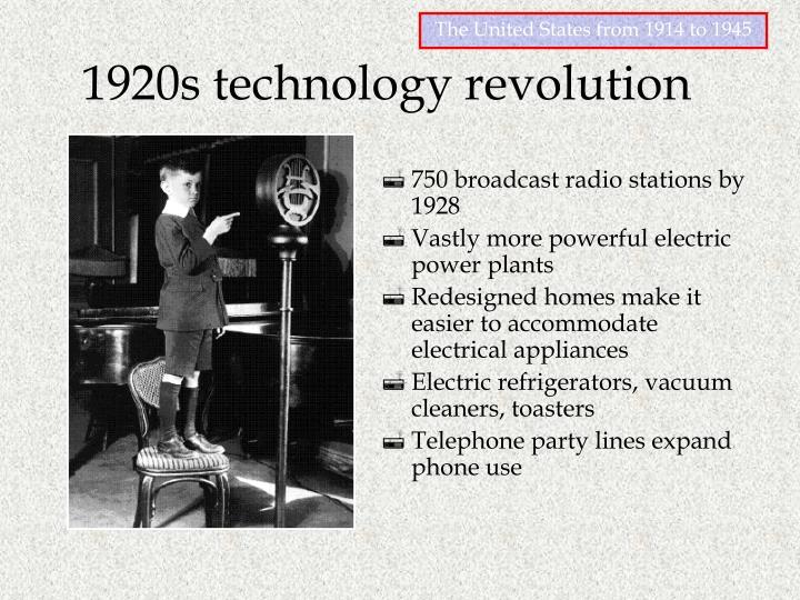 1920s technology revolution