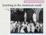 lynching in the american south1