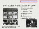post world war i assault on labor