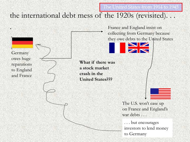 France and England insist on collecting from Germany because they owe debts to the United States