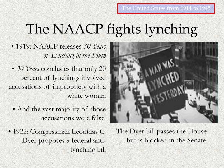 The NAACP fights lynching