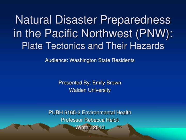 Natural Disaster From Plate Tectonics