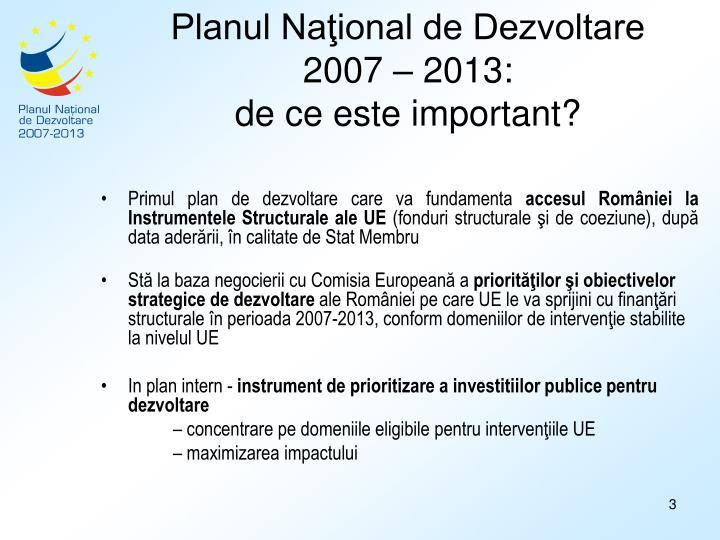 Planul Naţional de Dezvoltare