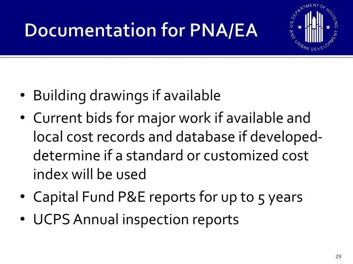 Documentation for PNA/EA