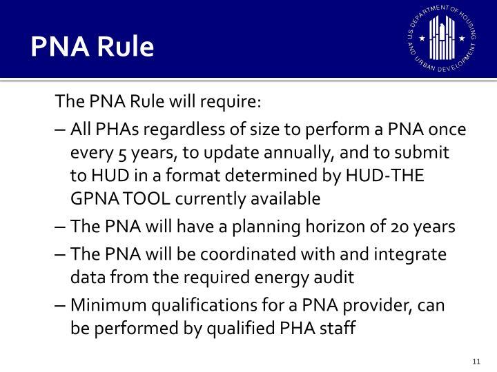 PNA Rule