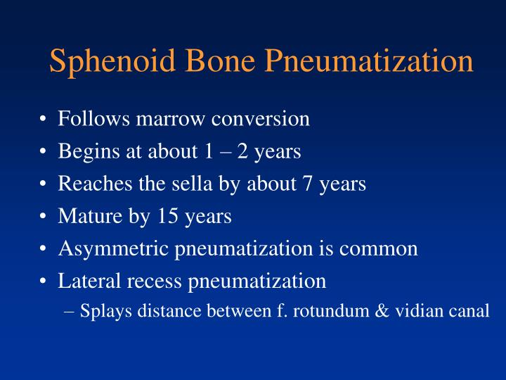 Sphenoid Bone Pneumatization