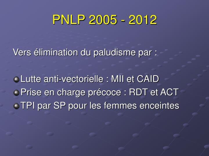 PNLP 2005 - 2012