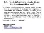 bolsa funarte de resid ncias em artes c nicas 2010 inscri es at 24 de maio