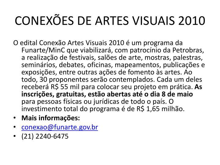 CONEXÕES DE ARTES VISUAIS 2010