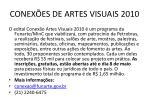 conex es de artes visuais 2010