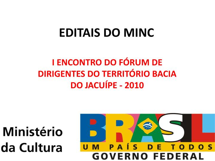 Editais do minc