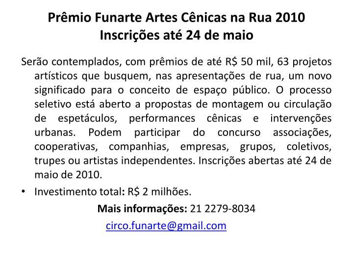 Prêmio Funarte Artes Cênicas na Rua 2010