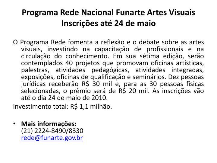 Programa Rede Nacional Funarte Artes Visuais