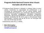 programa rede nacional funarte artes visuais inscri es at 24 de maio
