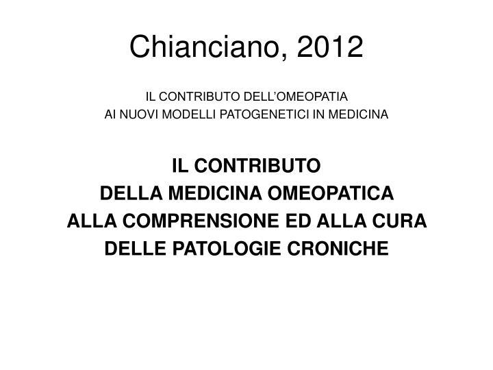Chianciano, 2012