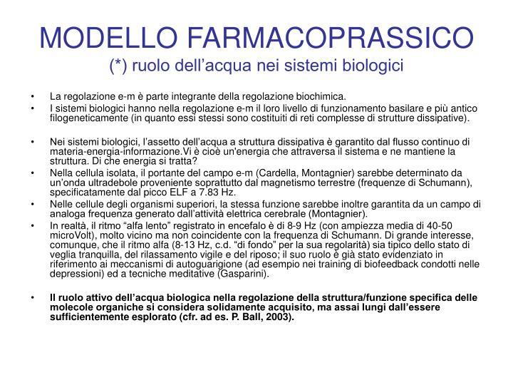 MODELLO FARMACOPRASSICO