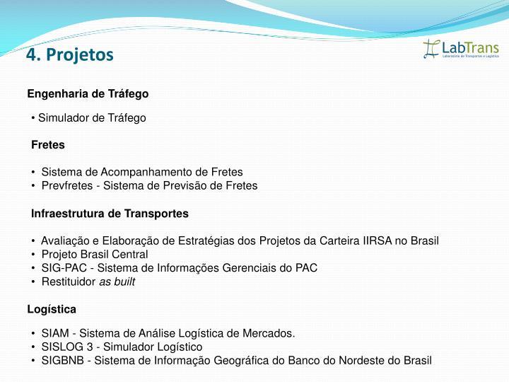 4. Projetos