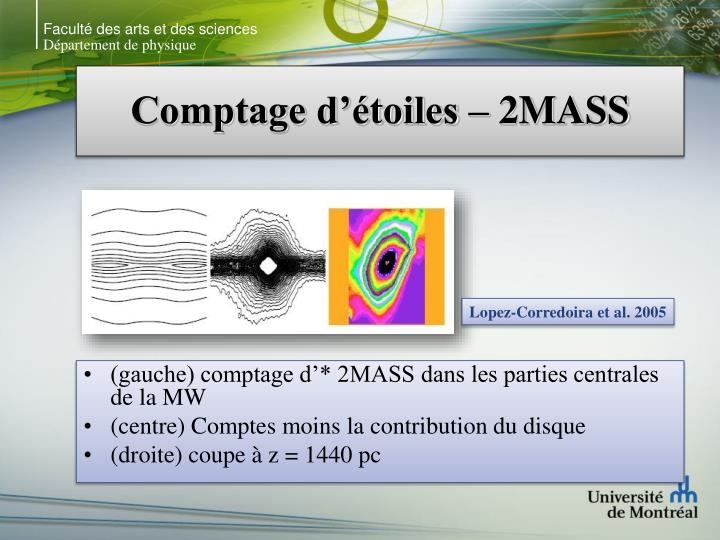 Comptage d toiles 2mass