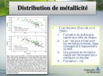 distribution de m tallicit8