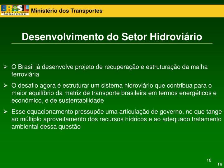 Desenvolvimento do Setor Hidroviário