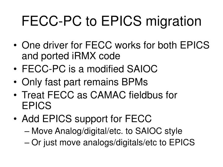 FECC-PC to EPICS migration