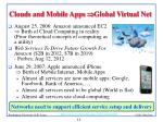 clouds and mobile apps global virtual net