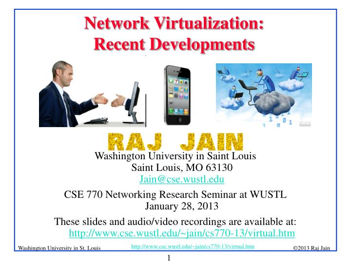 Network virtualization recent developments