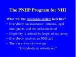 the pnhp program for nhi1