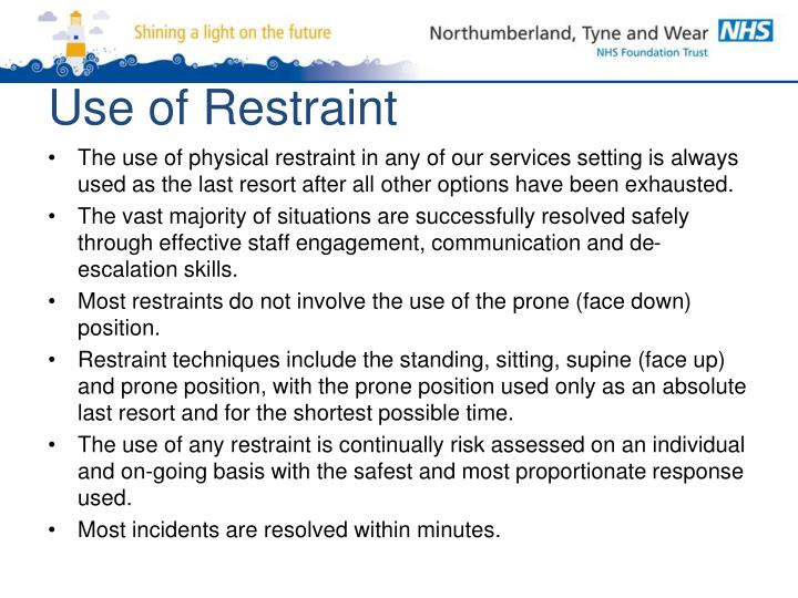 Use of Restraint