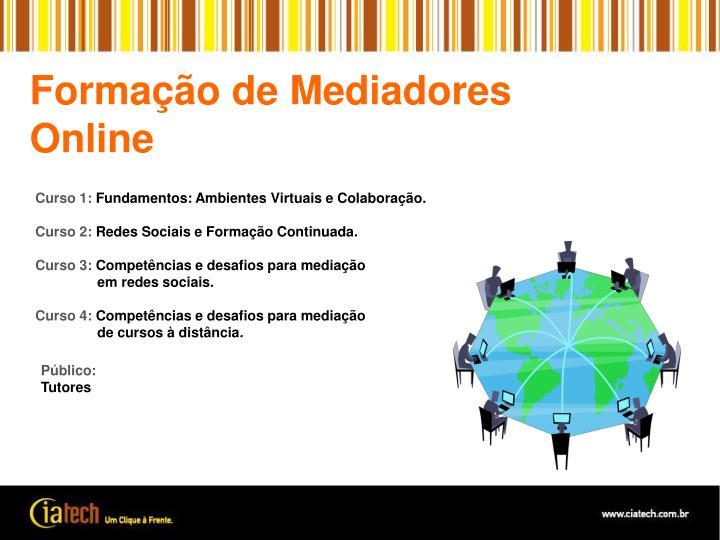 Formação de Mediadores Online