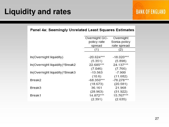 Liquidity and rates
