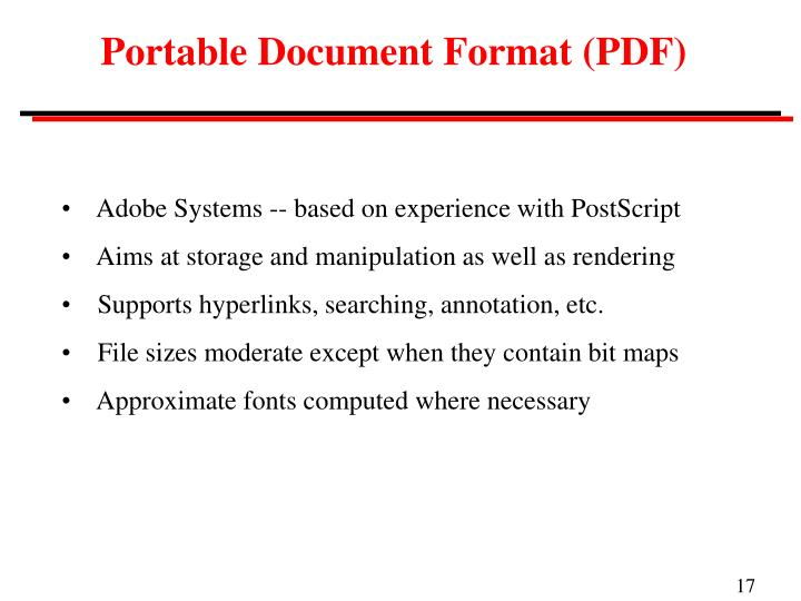 Portable Document Format (PDF)