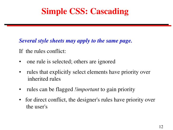 Simple CSS: Cascading
