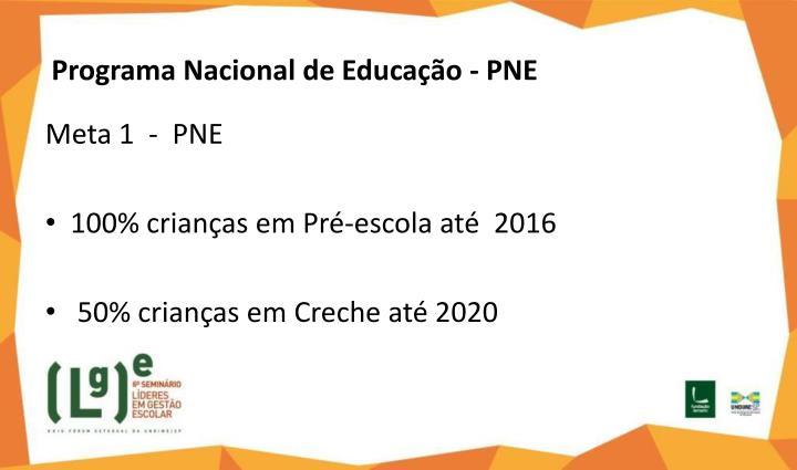 Programa Nacional de Educação - PNE