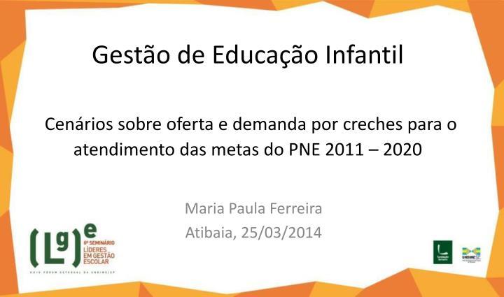 Gestão de Educação Infantil
