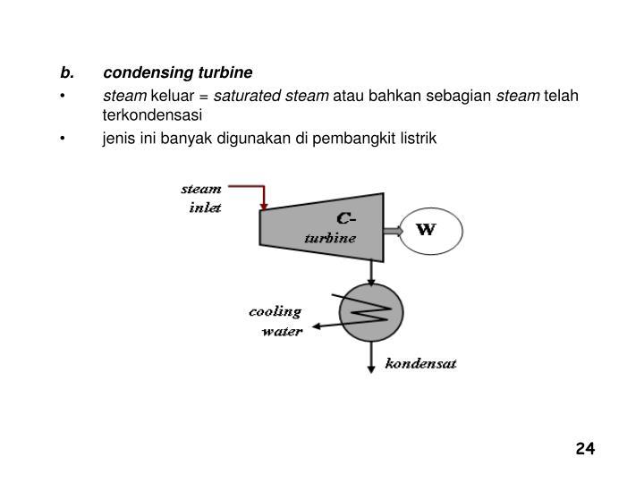 condensing turbine