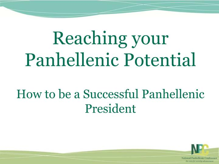 Reaching your Panhellenic Potential