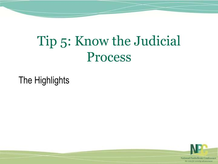 Tip 5: Know the Judicial Process